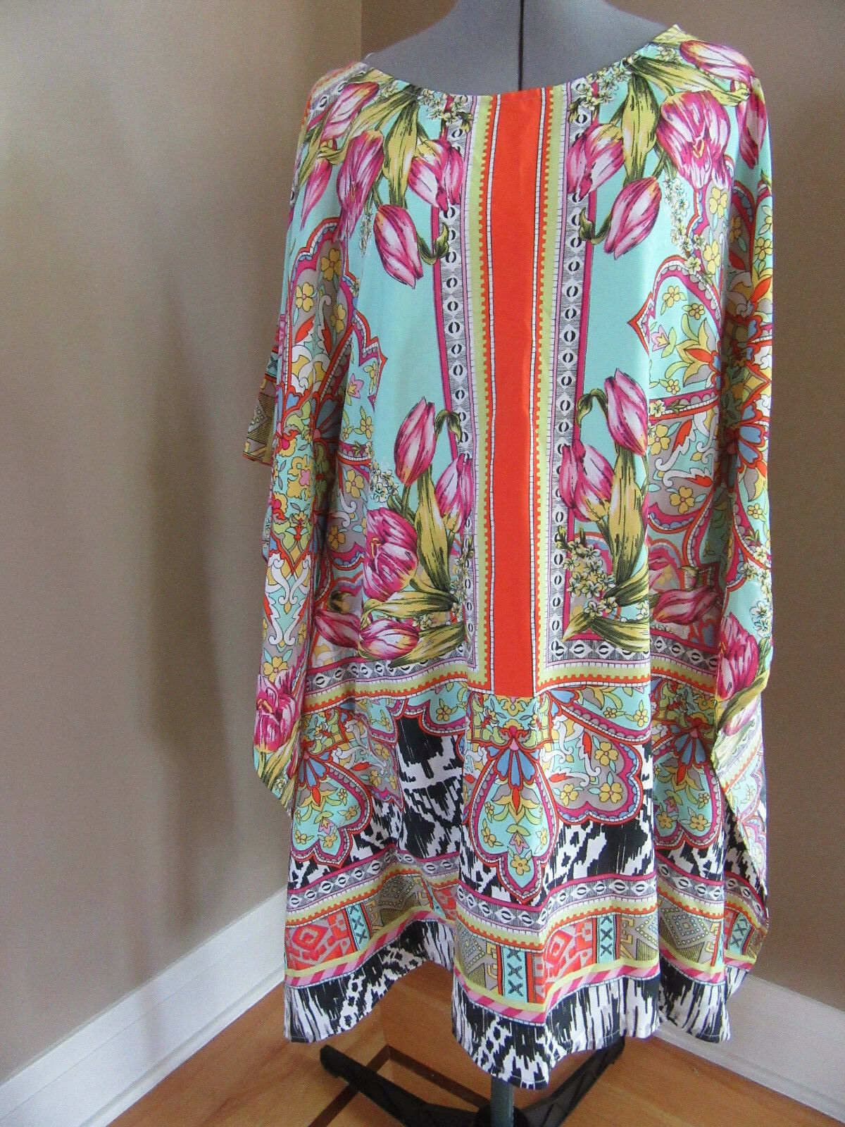 NWT ALBERTO MAKALI Round Neck Tunic Top Beach Cover up Größe Small