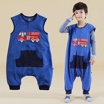 "Creative Nwt Vaenait Baby Boy Clothes Kids Cotton Fire Truck Sleepsack ""sleep Peep"" 1t-7t Latest Technology"