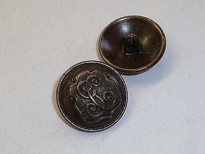 6 Pieza De Metal Botones Botón Ojales Botón Botones 18 Mm Altmessing Mercancía Nueva #545.2# Ganar Una Alta AdmiracióN