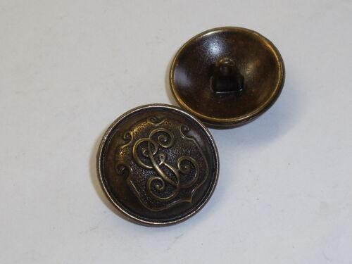 6 Stück Metallknöpfe Knopf Ösenknopf Knöpfe 23 mm altmessing NEUWARE #544.2#
