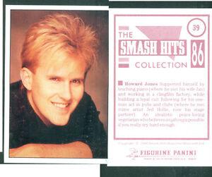 Howard-Jones-7x10-cm-Sticker-Brand-New-n-39-Notes-on-the-Back-1986