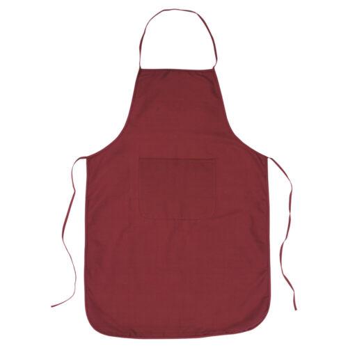 100/% Algodón Liso Delantal Bolsillo Frontal-Cocina Catering Cocina Chefs Reino Unido Crafts
