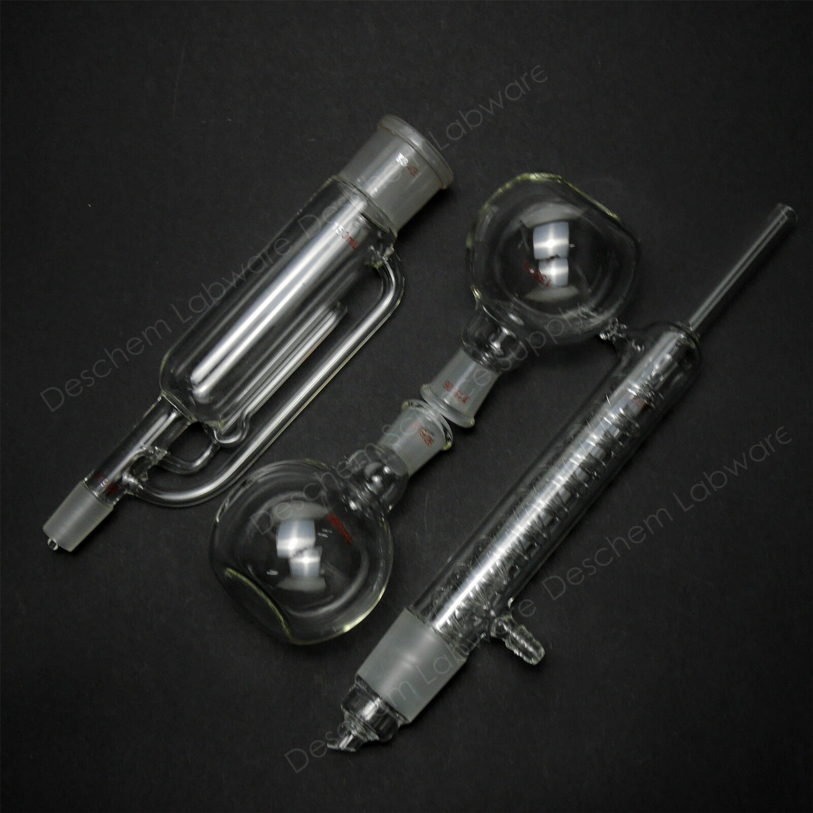 150ml,Glass Soxhlet Extractor With Coil Condenser And Two Flat Bottom Flask 4