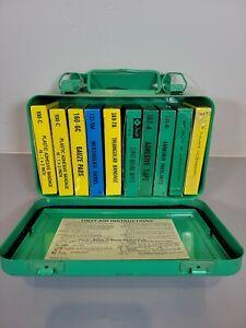 Vintage Swift Laboratories First Aid Kit Box Sealed kits Hollywood rare metal