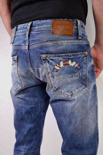 Coupe Hommes Pepe Da Regular Bleu Coton 100 une dition Ingenious Fit fois Jeans Encore Tw8qf8
