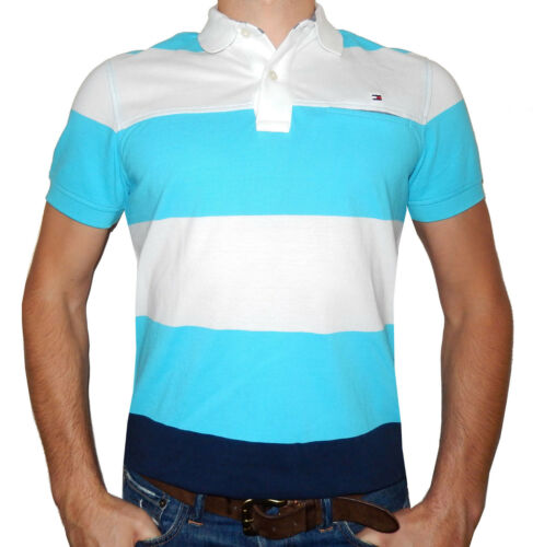 Short Sleeve and Solid Tommy Hilfiger Men Polo Mesh T-Shirt 100/% Cotton