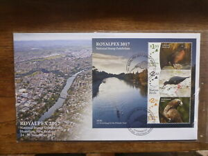 NEW-ZEALAND-2017-ROYALPEX-NATIVE-BIRDS-3-STAMP-MINI-SHEET-FDC-FIRST-DAY-COVER