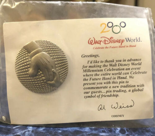 Disney Pin Epcot 2000 Millenium Celebration 20 Year Old Rare Trading Pin