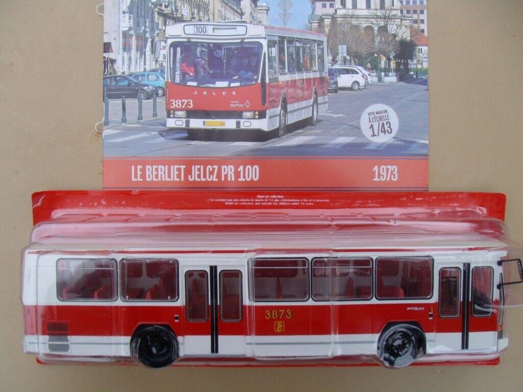 n° 34 BERLIET JELCZ PR 100 POLOGNE  Année 1973  Autobus et Autocar du Monde 1/43