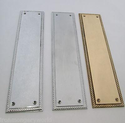 Heavy Duty Solid Brass Georgian Finger Push Plate New Brass