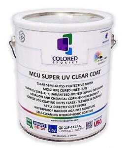 Top Coat Epoxy Finish Moisture-Cured Polyurethane, UV ...