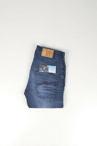 31031 Nudie Jean Mince Finn Original Strikey Utilisé Bleu Homme En Taille 28/32