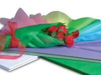 1 Unit Rainbow Waxed Florist Tissue Paper Ream 18x24 Sheets Unit Pack 400