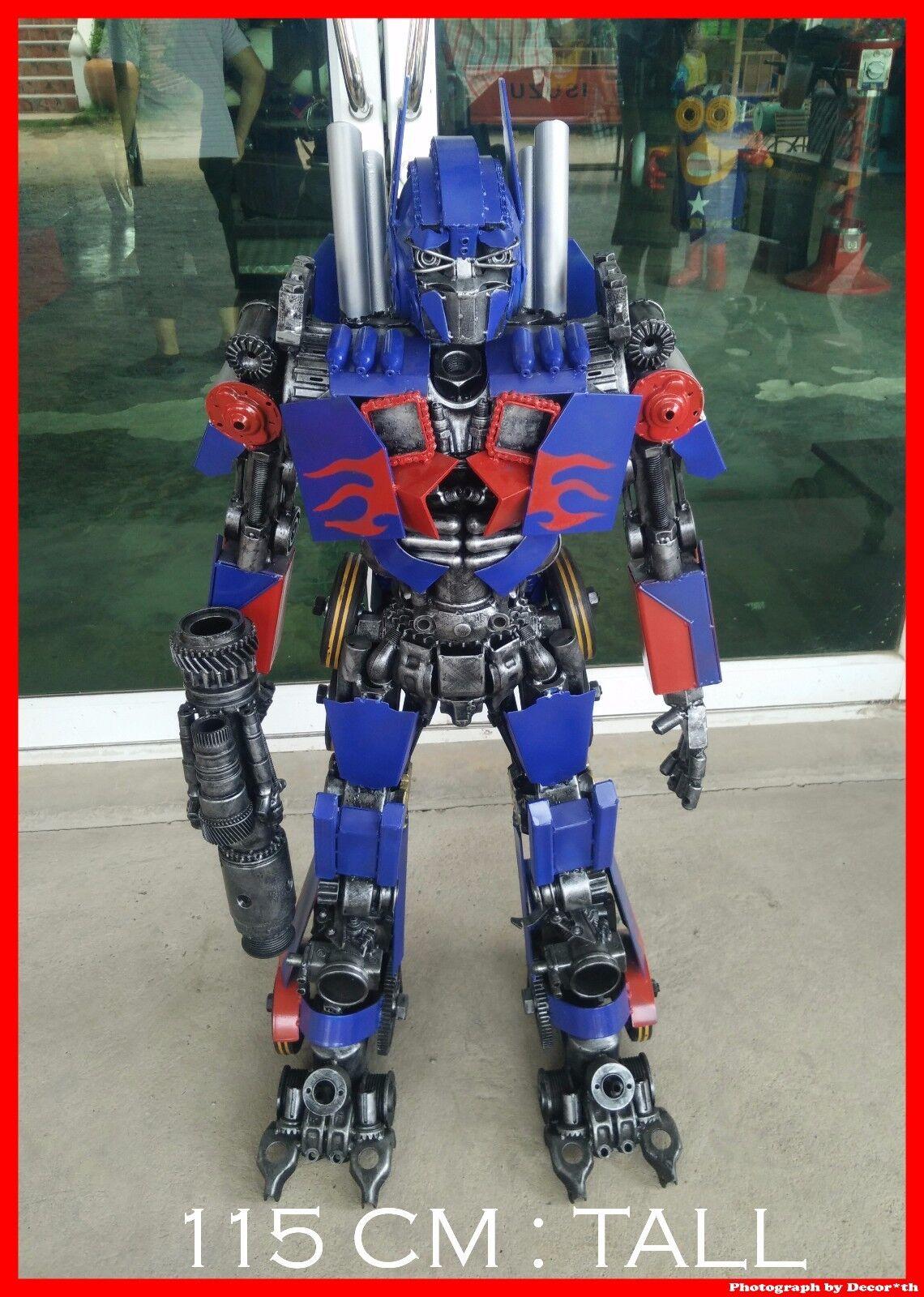 lo último 1 1 1 Metro Optimus Prime Transformers arte hecho a mano De Metal De Decoración Del Hogar Pub Coleccionistas  salida
