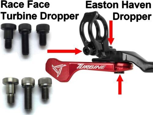 3-Schaubensatz aus TITAN für VarioSattelstütze EASTON /& RACE FACE 63/% leichter
