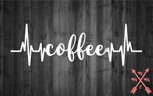 COFFEE LIFELINE SAYING QUOTE STICKER DECAL LAPTOP YETI CAR ...