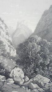 SPORCA-ST-CHIARO-HAUTE-SAVOIA-MONTAGNA-LITOGRAPHIE-originale-Hterry-XIX