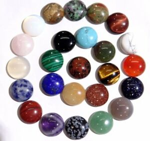 16-16MM-Natural-Mixing-agate-Round-cabochon-Flatback-Semi-Precious-Gemstone