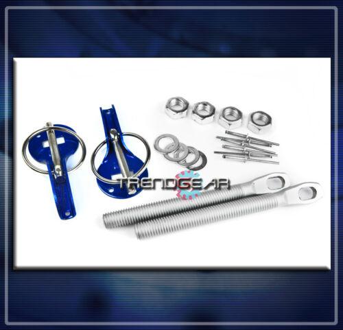 HOOD PIN LOCK KIT BLUE FOR 240SX ALTIMA MAXIMA SENTRA IMPREZA CELICA MATRIX