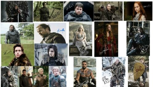 """Game Of Thrones Signed Autograph PRINTS Bundle Joblot Set Collection 6x4/"""" Gift"""