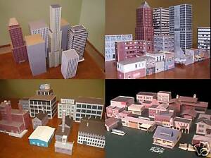 Details about (150) PAPER MODEL BUILDINGS *CD* N Scale Cut Out Cardstock  Railroad 3D HO SCHOOL