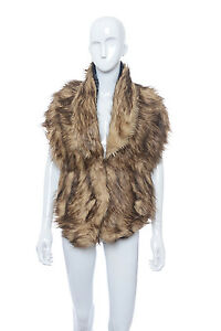Luxury Womens large Fluffy Winter Faux Fur Collar stole  Wrap  Black Brown