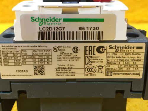 ***NEW*** SCHNEIDER ELECTRIC LC2D12G7 25 AMP 600 VOLT REVERSING CONTACTOR 10 HP