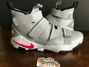 7336036e3b0 NIKE LEBRON SOLDIER 11 XI SFG SILVER BULLET VARSITY RED 897646 007 ...