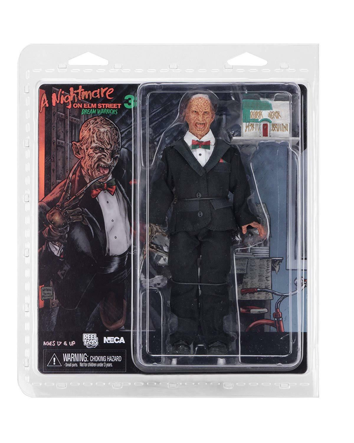 Nightmare on Elm Street  Tuxedo Freddy 20 cm 8 inch Clothed Retro Action Figure