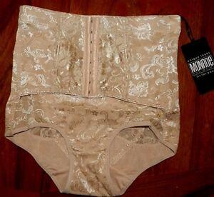 NEW WOMENS MONROE /& MAIN NUDE FRONT CORSET CINCHER SIZE XL