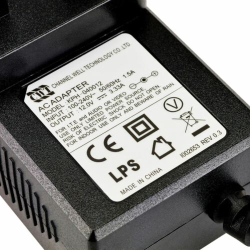DC12030012A Replacement 12V 3A Power Supply Adapter for Logik LCD TV