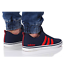 thumbnail 5 - Adidas VS PACE B74317 Navy Red Trainers Shoes Footwear Laces Ankle Collar