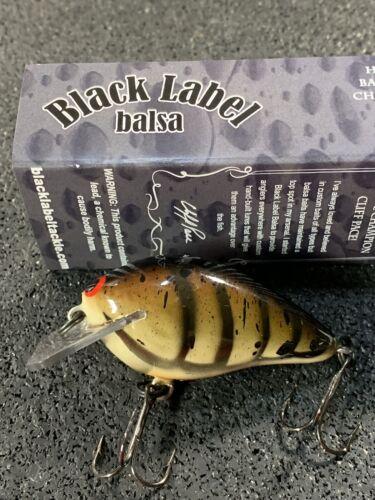 Custom Balsa Crankbait Black Label Balsa Ricochet Mini HD Craw Color