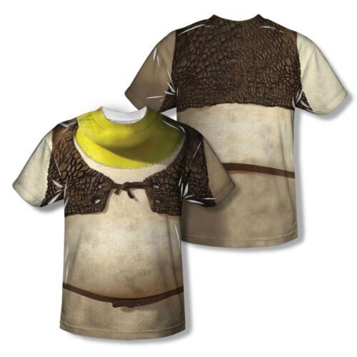 Shrek COSTUME 2-Sided Sublimated All Over Print Poly T-Shirt