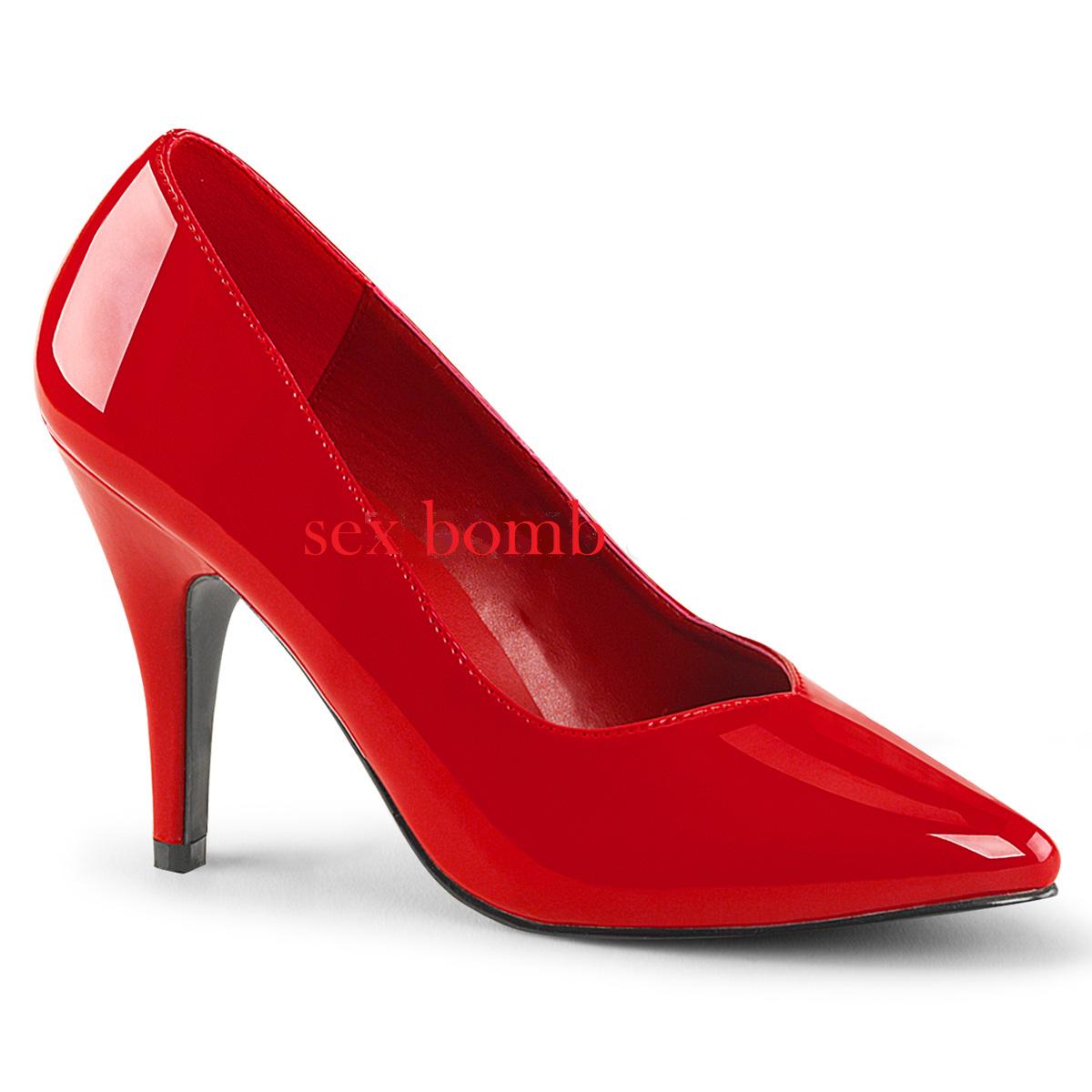 Sexy DECOLTE' tacco 10 ROSSO DAL 36 AL 47 ROSSO 10 LUCIDO scarpe GLAMOUR Chic fashion 36c61e
