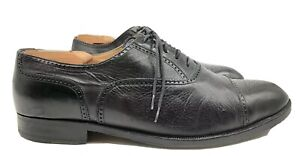 Bruno-Magli-Black-Leather-Cap-Toe-Brogue-Italy-Dress-Shoes-Oxford-Men-039-s-US-11-M