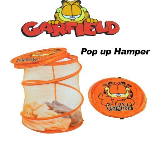 Garfield Pop Up Laundry Hamper Storage Orange Mesh