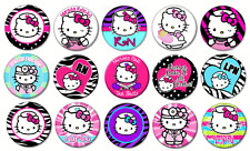 "HELLO KITTY NURSE - Lot of 15 Pin Back 1"" Buttons BADGES (One Inch)  Set"