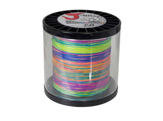 J-Braid PE Line Super 8 Multi Colour Daiwa BRAID 65LB 0.41mm 1500 m 1650 Yds