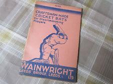 SM Wainwright LEEDS Original CATALOGUE 1938 CRICKET Tennis Bowls Badminton etc