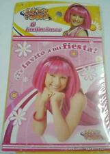 LAZY TOWN Party 12 INVITATIONS Favor Birthday STEPHANIE Decoration Supplies Pink