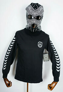 FTC Skateshop T-Shirt Tee Shirt Longsleeve Spitfire Skateboard Wheels Black in S