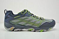 Mens Merrell Moab Fst Trail Running Shoes Size 7 Navy Blue Grey Green J36925