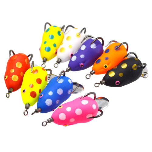 8 colors Soft Frog Snakehead lures Top Water 5g 35mm Fishing Baits With Hook