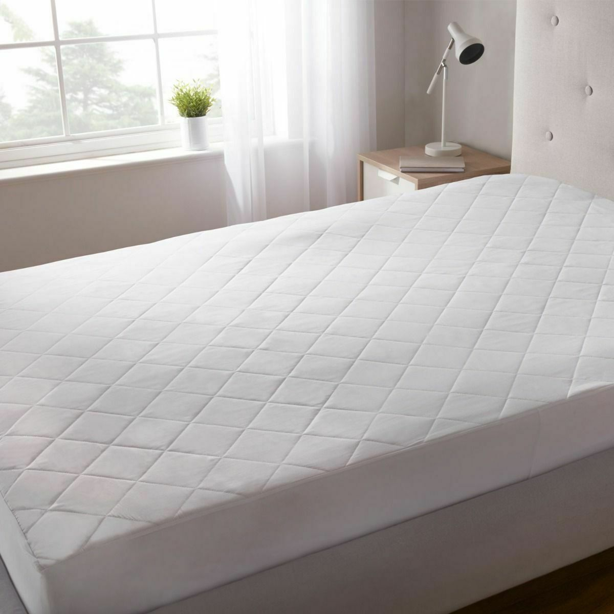 KING SIZE BED WETTING VINYL PLASTIC FITTED MATTRESS COVER SHEET PROTECTOR HLU