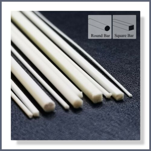 Suitable for all Model Trains etc. ABS Styrene 10pcs Mixed Round /& Square Bar