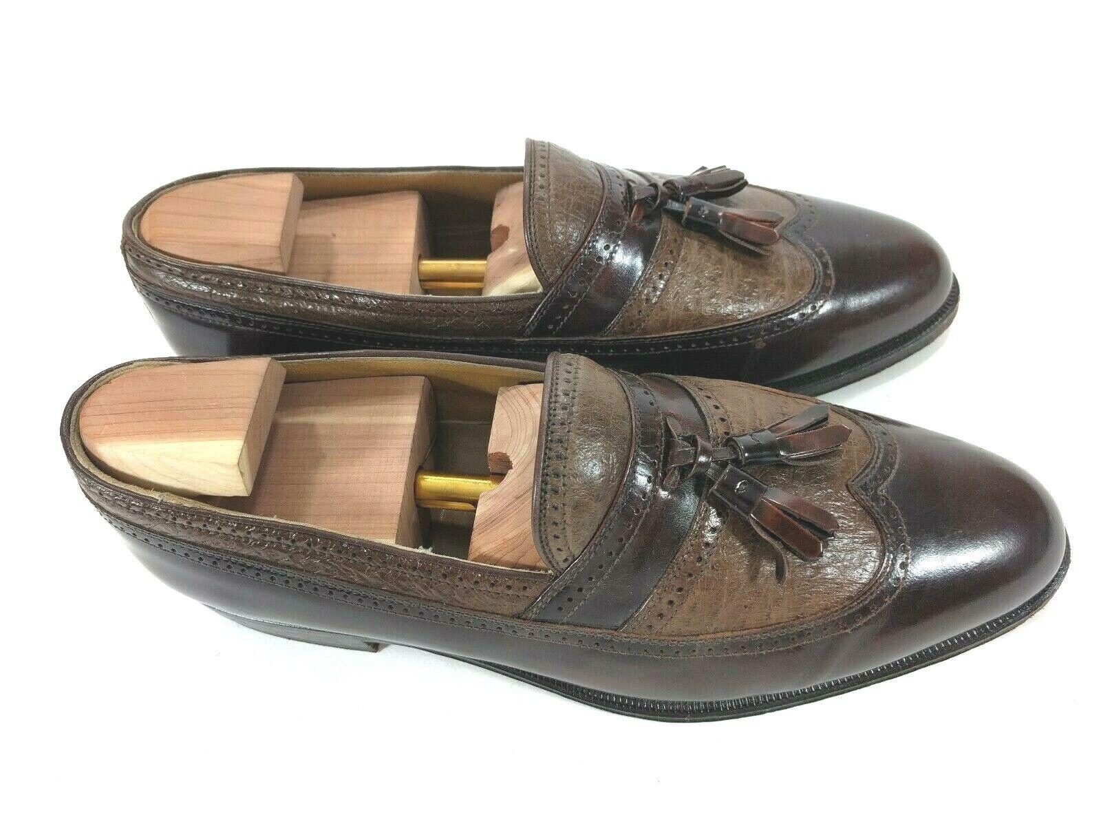 Johnston & Murphy Domani Brown 6920 Tassel Wingtip  Loafers Men's 9.5 M