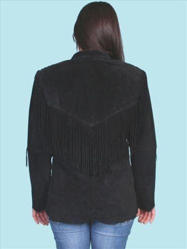 femmes la franges à Western en main pour à Veste daim noir Wear qA4Y8fxWwP