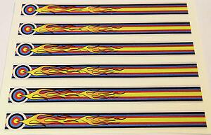 """0952 Vinyle Hd Arrow Wraps-p-flaming Cible Large 0.75"""" 7"""" Long (12 Pack)-afficher Le Titre D'origine Les Produits Sont Vendus Sans Limitations"""