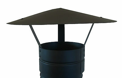 CHIMNEY CAP,RAIN CAP,CHIMNEY COWL,TO FIT 4''/100MM FLUE PIPE,STOVE PIPE